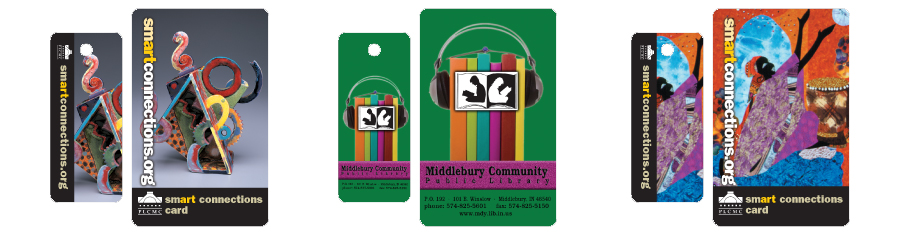 Adult Plastic Library Cards.