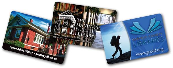 Custom printed library cards
