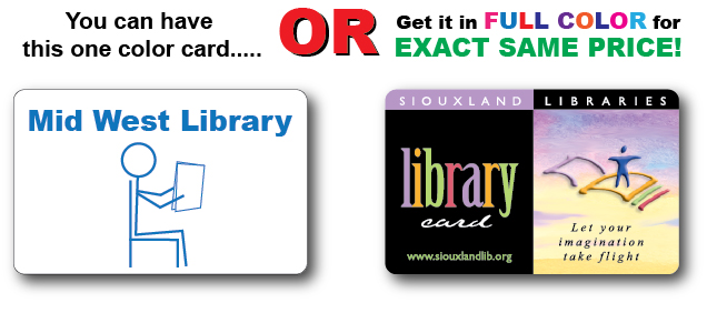 Custom Color Plastic Library Cards